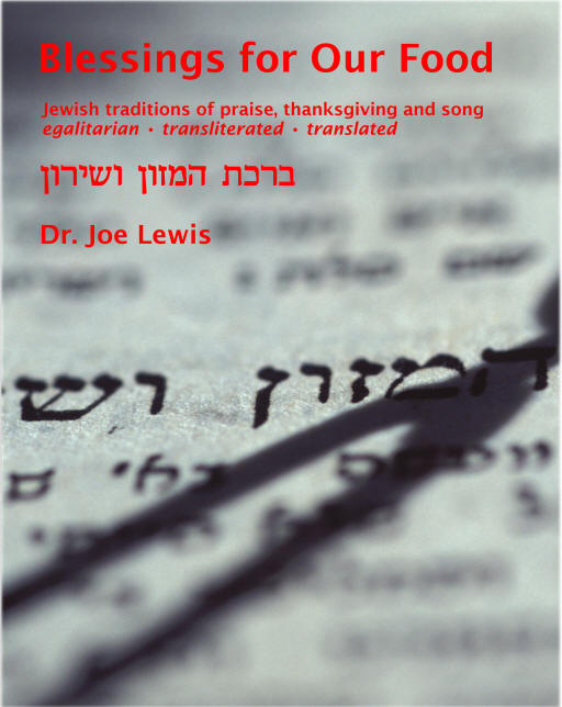Blessings for Our Food: transliterated, egalitarian, inclusive Jewish prayers before and after eating